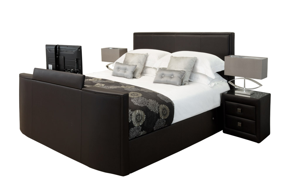 Tv bed new york - Chocolade nachtkastje ...